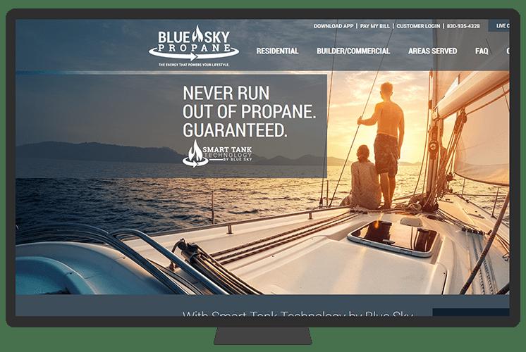 Bluen Sky Propane | Case Study | Sunflower Lab